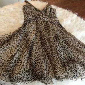 💞TADASHI Collection 💞leopard print dress